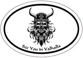 Amazon Com Wickedgoodz See You In Valhalla Bearded Viking Decal Norse Sticker Scandinavian Sticker Kitchen Dining