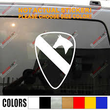 1st Cavalry Division Car Decal Sticker First Team Csib Army Vinyl No Background Pick Size Color Car Stickers Aliexpress
