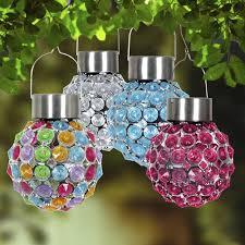 enchanted garden solar acrylic ball