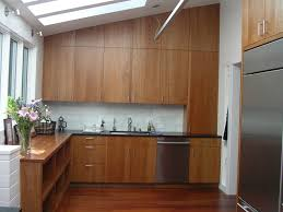 solid cherry cabinets marble subway
