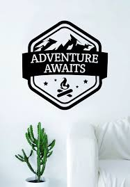 Adventure Awaits V5 Quote Wall Decal Sticker Bedroom Living Room Art V Boop Decals