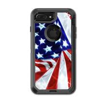 Skin Decal For Otterbox Defender Iphone 7 Plus Or Iphone 8 Plus Case Electric American Flag U S A Itsaskin Com