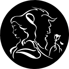 Beauty And The Beast Rose Belle Wall Art Vinyl Decal Sticker Etsy In 2020 Beauty And The Beast Silhouette Beauty And The Beast Art