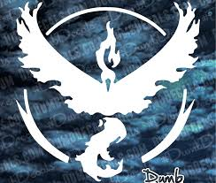 Team Valor Red Moltres Pokemon Go Decal Dumbdecals Com