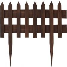 Border Edge Fence Brown H60 Woodie S