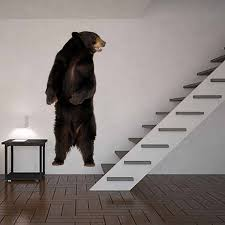 Grizzly Wall Decals Bear Wall Decals Wall Decor Bear Full Etsy