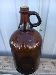 clorox brown glass bleach bottle jug