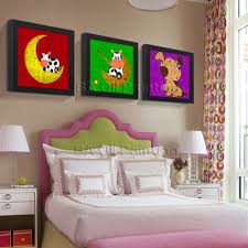 Canvas Wall Art Handpainted Oil Painting 3 Pieces Set Modern Cartoon Animal Paintings Kids Room No Frame 3 Panles Oil Painitng On Canvas 2756