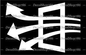 Air Flow Symbol Hvac Car Suv Truck Vinyl Die Cut Peel N Stick Decal Sticker Ebay
