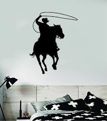 Cowboy Horse V2 Animal Wall Decal Sticker Vinyl Home Decor Art Rodeo F Boop Decals