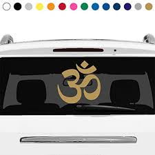 Amazon Com Many Sizes And Colors Aum Om Symbol Sign Yoga Buddhism Spiritual Car Truck Suv Rear Window Glass Decal Sticker Laptop V4 Handmade