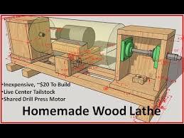homemade wood lathe you