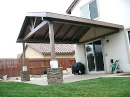 patio covered extended gable roof over