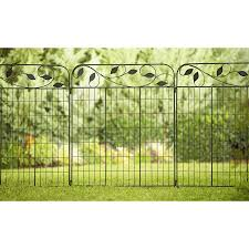 Shop No Dig Black Powder Coated Steel Fence Panel Common 45 In X 37 In Actual Steel Fence Panels Decorative Fence Panels Decorative Garden Fencing