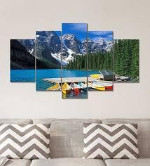 mdf digital print set of 5 wall art