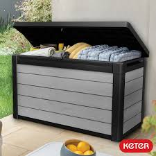 wood look duotech outdoor storage deck box