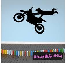 Dirt Bike Motorcycle Motocross Moto Vinyl Wall Decal Car Sticker Dirtbikesst005 Swd