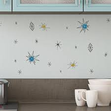Retro Atomic Shapes Pattern Wall Decal Shop Decals At Dana Decals