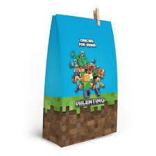 Minecraft Bolsitas Golosineras Personalizadas