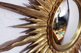 convex sunburst mirror 1950s for