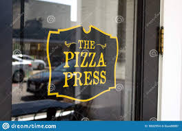 Pizza Press Restaurant Sign Editorial Stock Image Image Of Hall Dine 156227614
