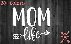 Mom Life Arrow Quote Saying Sticker Decal Laptop Yeti Car Tumbler Cup Macbook Ebay