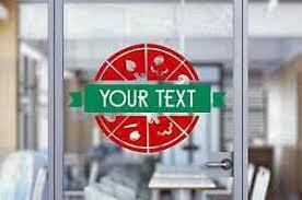 Custom Restaurant Pizza Pizzeria Shop Sign Text Wall Window Decal Sticker Art Ebay