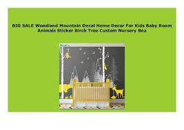 New Woodland Mountain Decal Home Decor For Kids Baby Room Animals St