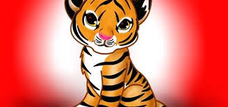 how to draw a cute tiger drawing
