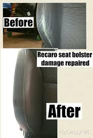 recaro seats damaged and fully red