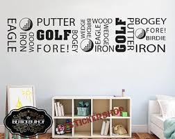 Golf Girl Wall Decal Golf Decals Golf Quotes Decals Sport Wall Etsy