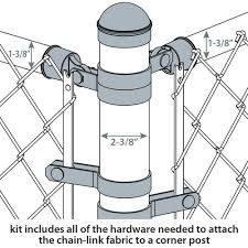 2 3 8 Galvanized Chain Link Fence Corner Post Kit At Menards