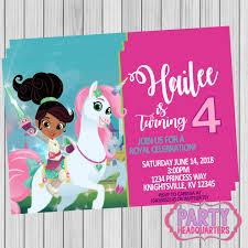 Printable Invitation Nella The Princess Knight 4x6 Print At