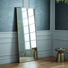 leaning mirror to a wall