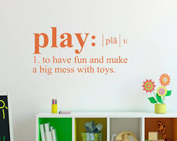 Play Wall Decal Etsy