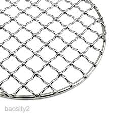 1 Pack Bbq Grill Mesh Mat Portable Simple Firewood Grill 304 Stainless Steel Shopee Philippines