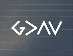 Decal God Is Greater Than The Highs And Lows Car Decal Etsy