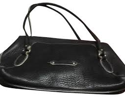 cole haan black leather tote tradesy