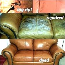 how to repair worn leather furniture
