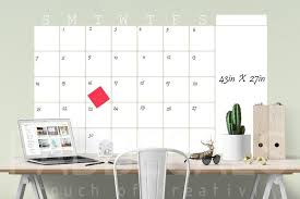 Monthly Whiteboard Calendar Dry Erase Wall Decal Calendar Available In Four Sizes Removable Wall Dry Erase Wall Kids Wall Decals Whiteboard Wall