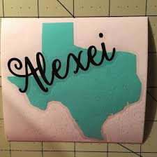 Texas Decal With Script Name For Your Yeti Tumbler Rambler For Sale Online