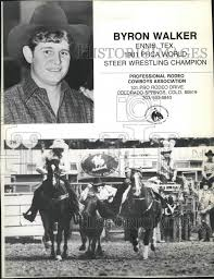 1982 Press Photo Cowboy-Byron Walker, 1981 PRCA World Steer ...