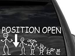 Amazon Com Fgd Funny Stick Figure Single Dad Family Position Open Arrow 12 X6 Car Truck Suv Automotive
