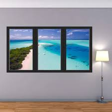 Vwaq Vacation Resort Wall Decal Office Ocean Mural Sticker 3d Window