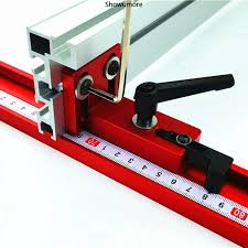 Ready Stock Durable T Track Gauge Fence Connector Aluminium Hand Table T Slot Miter Track Shopee Philippines