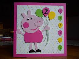 Handmade Peppa Pig Birthday Card I Made For My Friend S