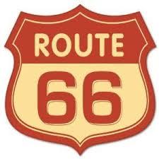 Amazon Com Route 66 Vintage Road Sign Sticker Decal 4 X 4 Automotive