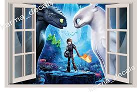 24 36 Or 52 17 How To Train Your Dragon Toothless Light Fury 3d Wall Decal