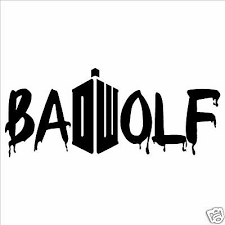 Laptop Wall Doctor Who Bad Wolf Vinyl Decal Sticker Car Window
