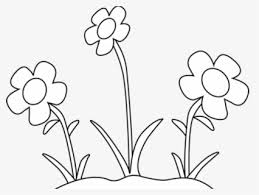 free black and white flowers clip art